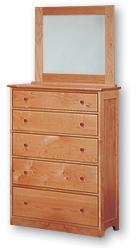 Five Drawer Dresser By Pacific Rim Organic Grace