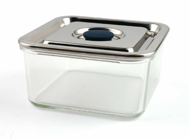 glass wstainless food storage medium - Glass Containers With Lids