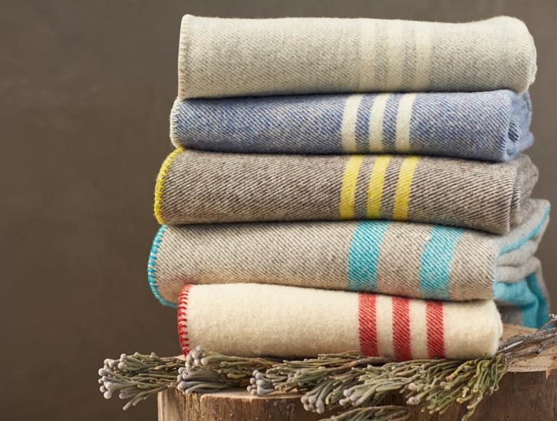 Striped Wool Blanket Healthy People Healthy Planet
